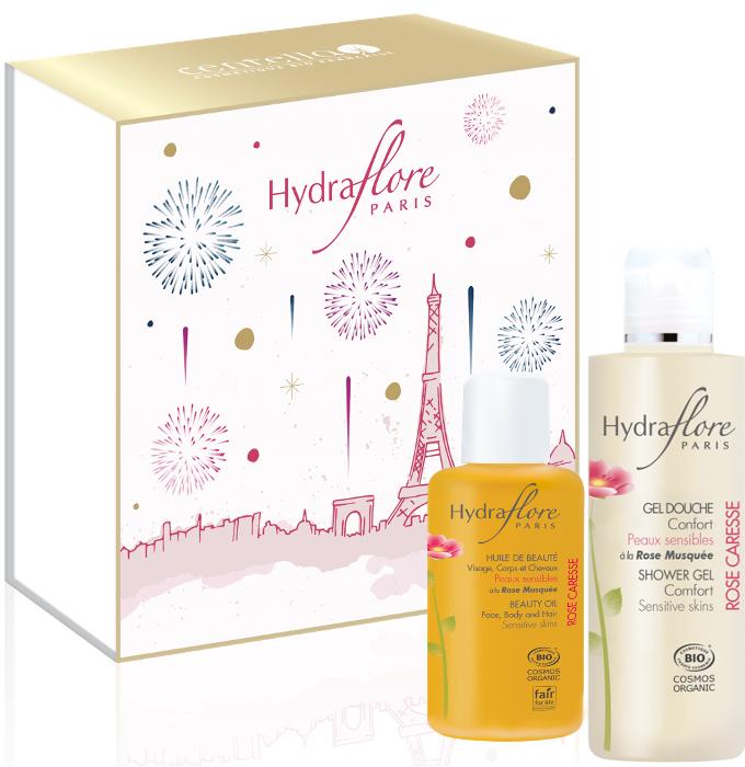 HYDRAFLORE_COFFRET_CORPS_ROSE_CARESSE Sélection Cadeaux de Noël pour Femmes