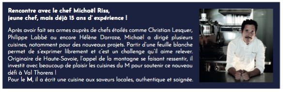 MichaelRissParcours L'Hôtel Marielle dévoile son restaurant  Le M