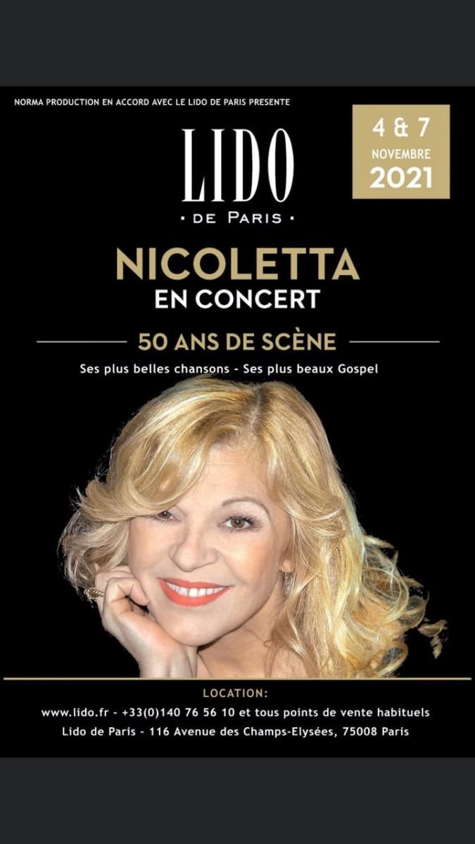 Lido-Concert-Nicoletta Les 50 ans de Scène de Nicoletta au Lido