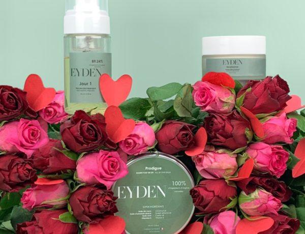 EYDEN-JOUR-1-peeling-enzymatique-25E40-100ml-avec-Renaissance-et-Prodigue-600x460 Routine bien-être avec les soins EYDEN