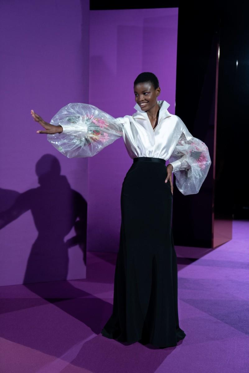 "LOOK02 Alexis Mabille : collection ""Femme-Fleur"""