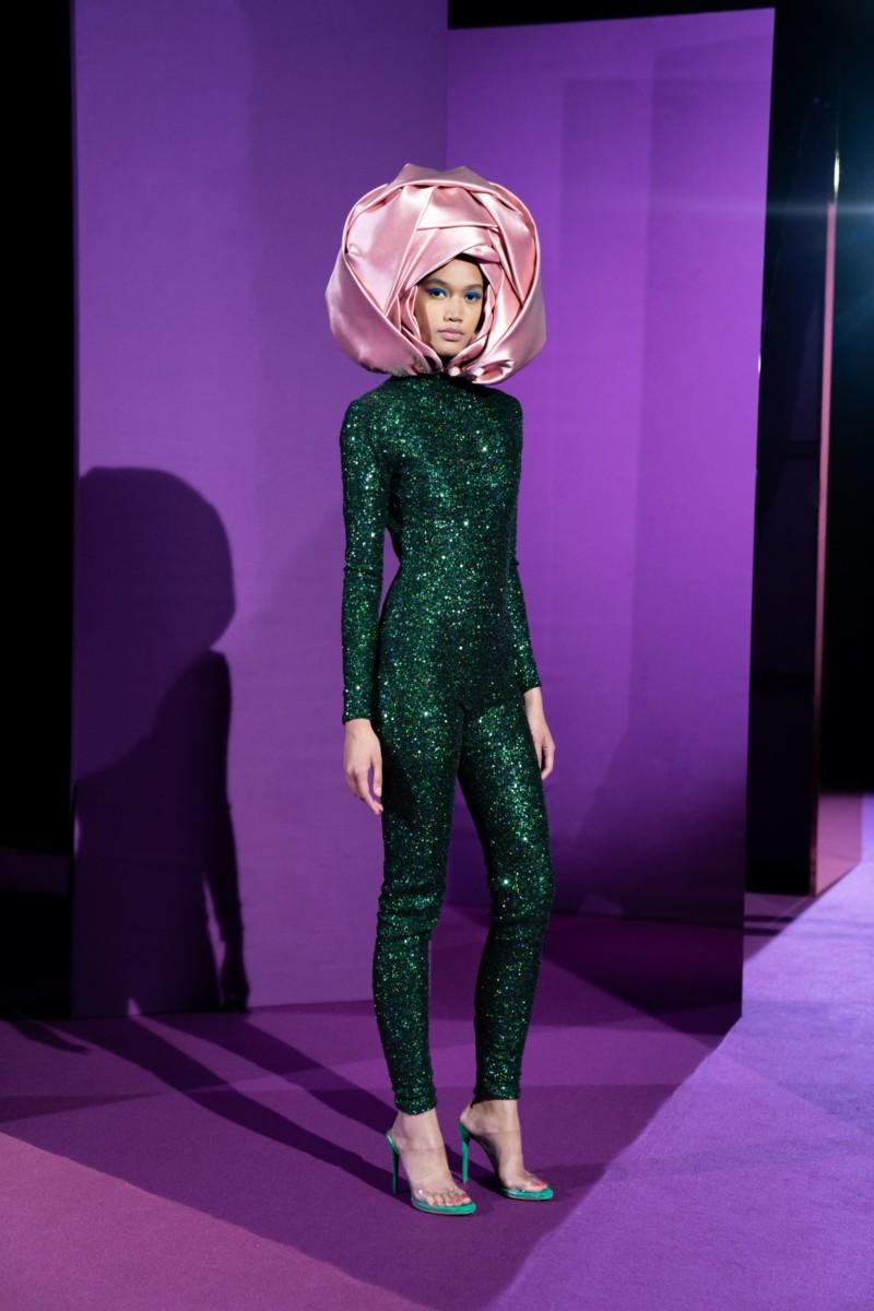 "LOOK17 Alexis Mabille : collection ""Femme-Fleur"""