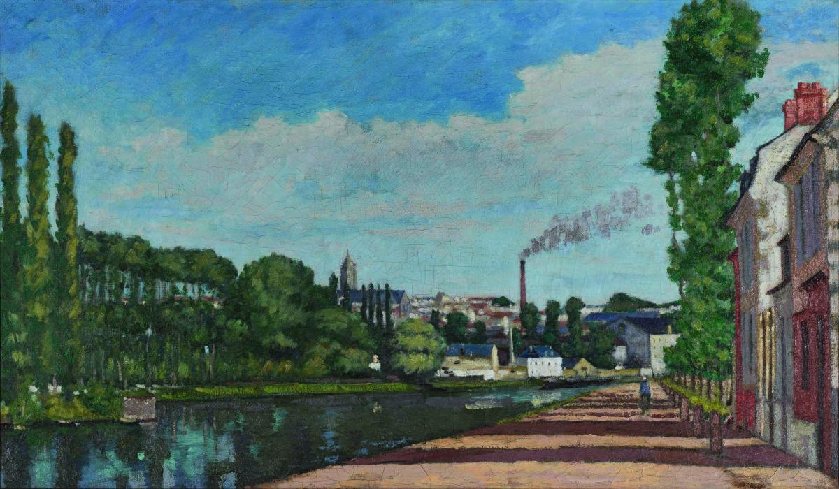 Pontoise_vue_depuis_ecluse La première édition du Mois de l'Impressionnisme