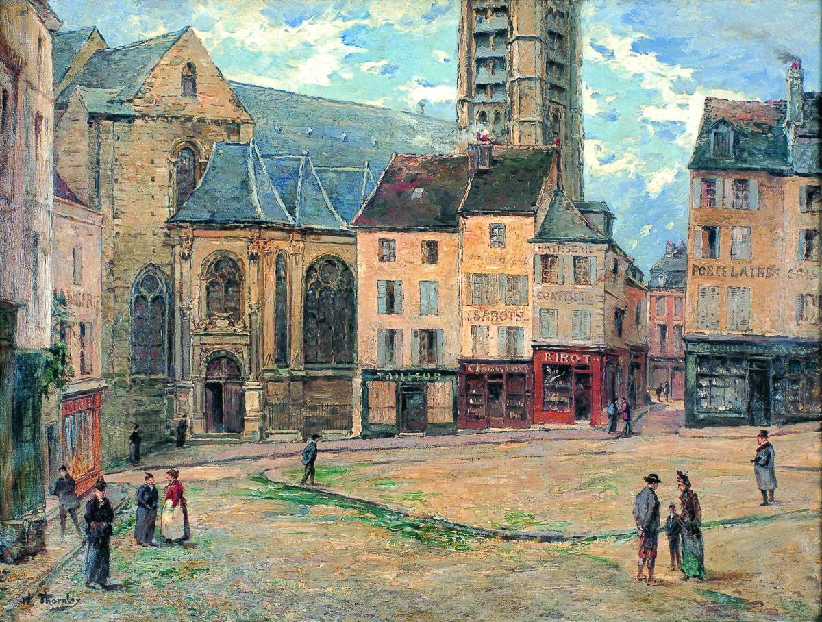William_Thornley_Place_du_Grand-Martroy_1910-1920 La première édition du Mois de l'Impressionnisme